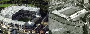 NUFC st james old and new