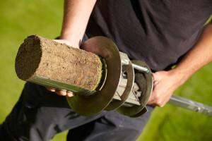 Thatch in soil core mr