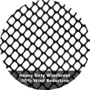 50% Wind Reduction - Heavy Duty Windbreak Netting