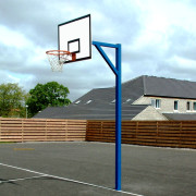 Heavy Duty Socketed Basketball Hoops with Backboards
